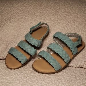 Cat & Jack little girls sandals in teal sz 13